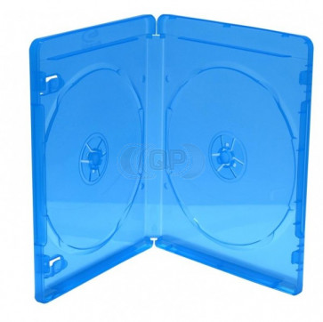 Blu-ray Disc box for 2 discs blue (11mm) 5 pieces
