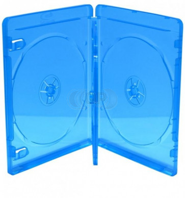 Blu-ray Disc box for 4 discs blue 5 pieces