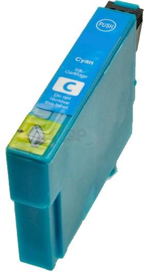 Epson T0802 inktcartridge cyaan + chip (huismerk)