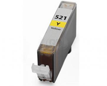 Canon CLI-521Y inktcartridge geel + chip (huismerk)