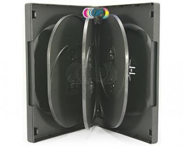 DVD box 8 dvds black 3 pieces