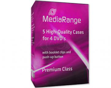 DVD box 4 dvds black 5 pieces