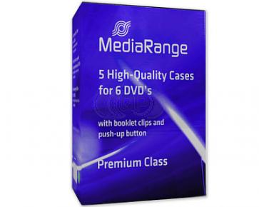 DVD box 6 dvds black 5 pieces