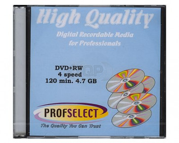 DVD+RW 4.7GB 4X Profselect 10 pcs