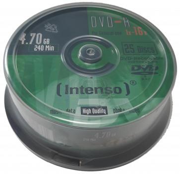 DVD-R 4.7GB 16X Intenso 25 stuks