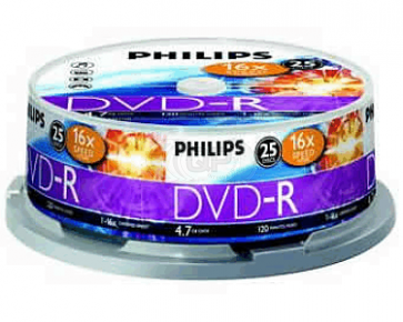 DVD-R 4.7GB 16X Philips 25 pieces