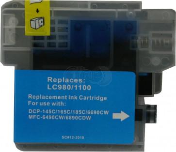 Brother LC-980 /  LC-1100C inktcartridge cyaan (huismerk)
