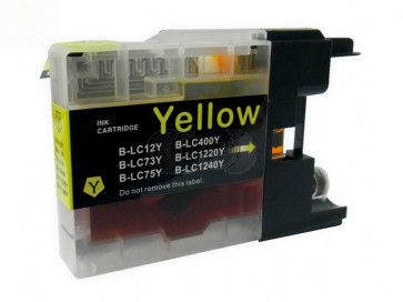 Brother LC-1220 / 1240Y inktcartridge geel (huismerk)