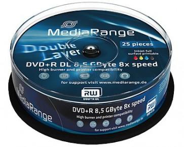 DVD+R 8.5GB 8X Mediarange double layer 25 pieces full white printable