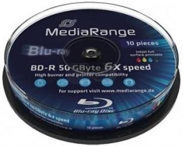 Blu-ray Disc 6X 50Gb recordable Mediarange 10 pieces white inkjet printable