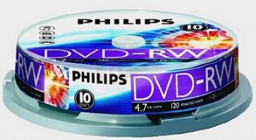 DVD-RW 4.7GB 2X Philips 10 pieces