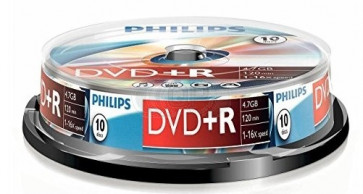 DVD+R 4.7GB 16X Philips 10 pieces
