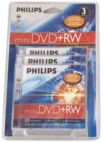 DVD+RW mini 8cm Philips 3 pieces
