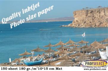 Inkjet photo paper 10*15 cm 240g/m² matf Profselect 100 sheet