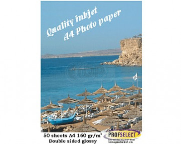 Inkjet photo paper A4 155g/m² glossy Profselect 50 sheet double sided