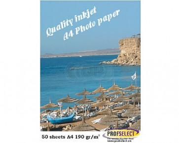 Inkjet photo paper A4 190g/m² glossy Profselect 50 sheet
