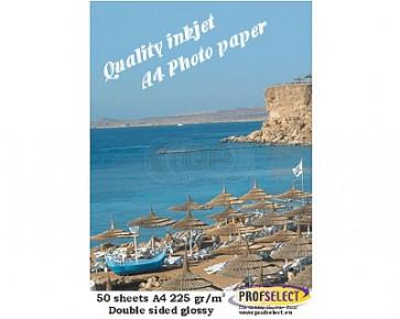 Inkjet photo paper A4 220g/m² glossy Profselect 50 sheet Double sided
