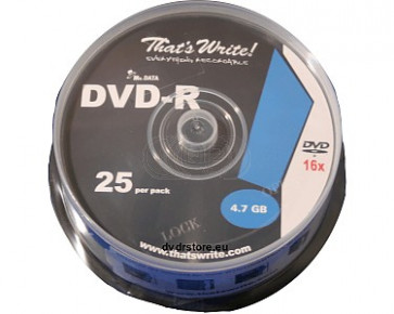 DVD-R 4.7GB 16X Thats Write 25 pieces