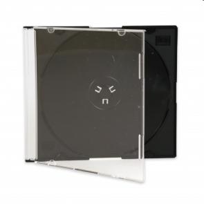 CD jewel slim case 5.2mm black Premiumline 50 pieces