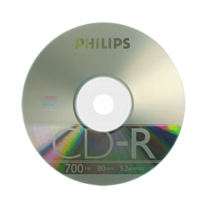 CD-R 52X Philips 100 pcs