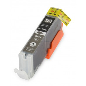 Canon CLI-571GY inkcartridge grau + chip (own brand)