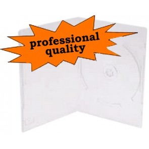 DVD box 14mm 1 DVD extra transparent professional quality 10 pieces