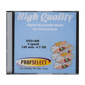DVD+RW 4.7GB 4X Profselect 10 pcs
