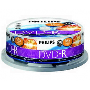 DVD-R 4.7GB 16X Philips 25 pieces