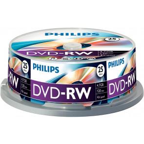 DVD-RW 4.7GB 4X Philips 10 pieces