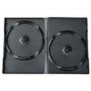 DVD box 14mm 2 dvds black 98 pieces