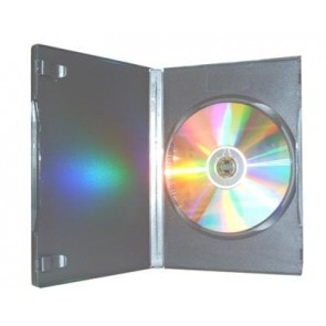 DVD box 7mm 1 dvd Budget plus black 49 pieces