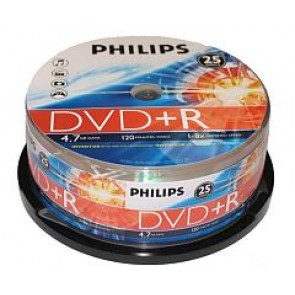 DVD+R 4.7GB 16X Philips 25 pieces