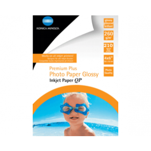 Inkjet photo paper 10*15 cm 260g/m² glossy Konica 210 sheet