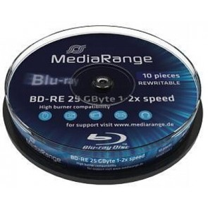 Blu-ray Disc 2X 25Gb rewritable Mediarange 10 pcs