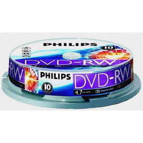 DVD-RW 4.7GB 2X Philips 10 pieces