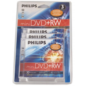 DVD+RW mini 8cm Philips 3 pieces