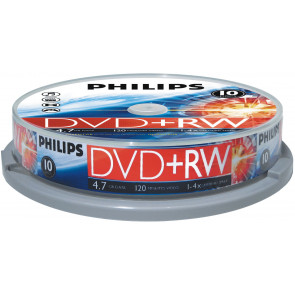 DVD+RW 4.7GB 4X Philips 10 pieces