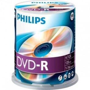 DVD-R 4.7GB 16X Philips 100 pieces