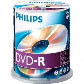 DVD-R 4.7GB 16X Philips 100 pieces