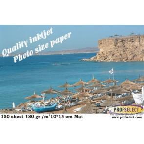 Inkjet photo paper 10*15 cm 180g/m² matt Profselect 150 sheet