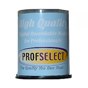 DVD+R 4.7GB 16X Profselect 100 pieces full white printable