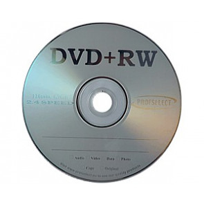 DVD+RW 4.7GB 2.4X Profselect 25 pieces