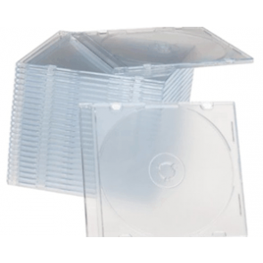 CD jewel slim case 5.2mm transparent Premiumline 100 pieces