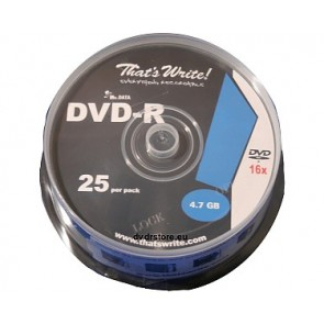 DVD-R 4.7GB 16X Thats Write 25 pieces