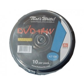 DVD + RW 4.7GB 4X Thats Write 10 pieces