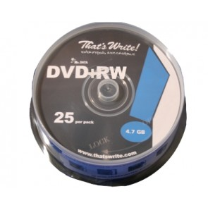 DVD + RW 4.7GB 4X Thats Write 25 pieces
