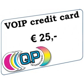 VoIP call credit € 25, - (excl. VAT)